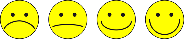 Children answered interview questions by choosing one out of four smiley faces presenting different emotional expressions.