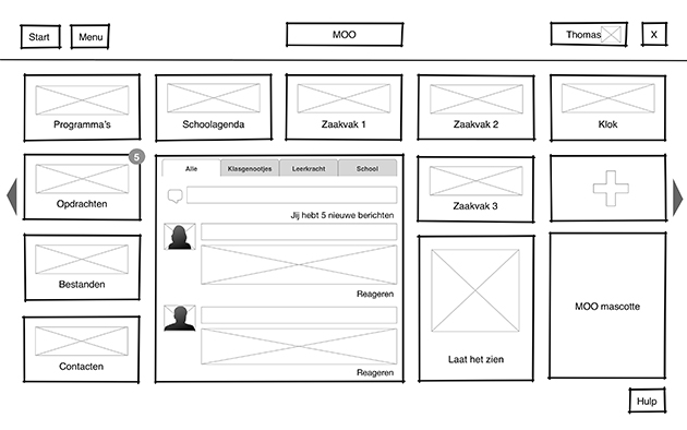 Wireframe of the new MOO
