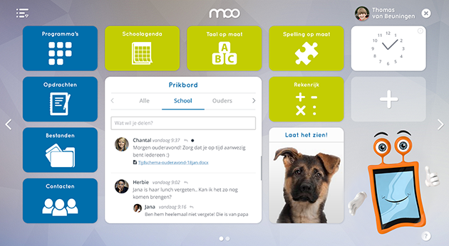 Visual design of the new MOO