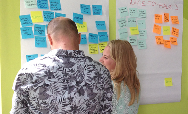 Getting the project team on the same page during the kick-off session.