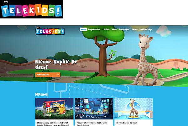 RTL Telekids website met logo